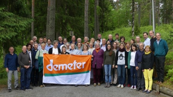 Gruppenbild der Demeter International Versammlung in Finnland