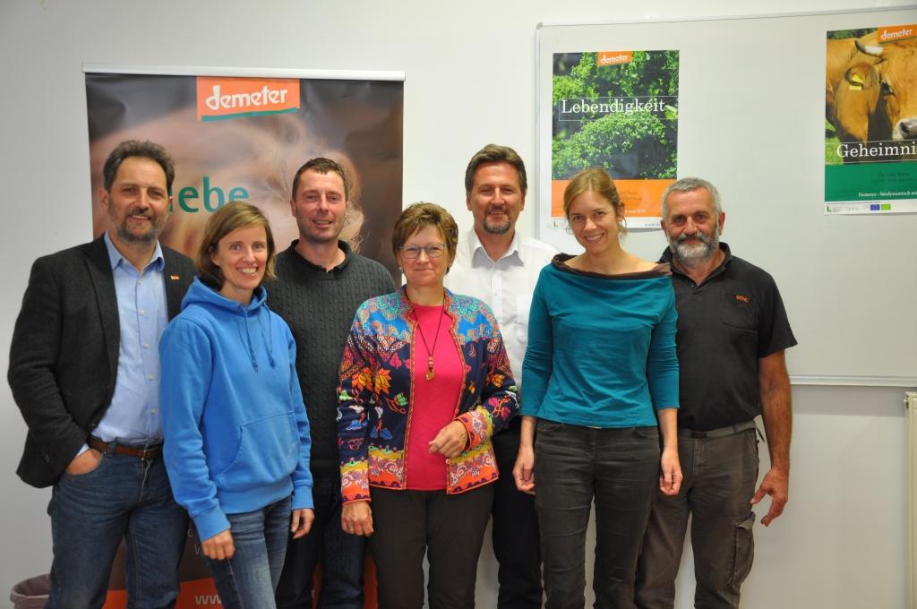 Bild des siebenköpfigen Vorstandes von Demeter Österreich