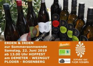 Sa, 22.6. ab 13 Uhr Hoffest am Demeter-Weingut Ploder-Rosenberg